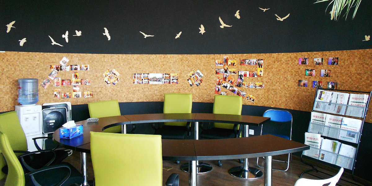 软木板照片墙