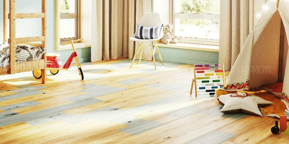 儿童房软木地板
