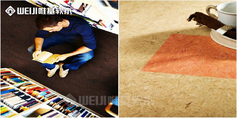 亚麻软木地板