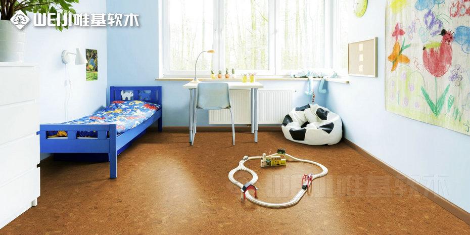 儿童房软木复合地板